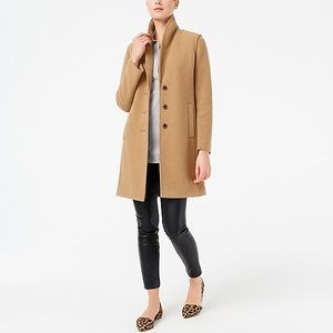 J. Crew Boiled Wool Topcoat in Camel Size 14